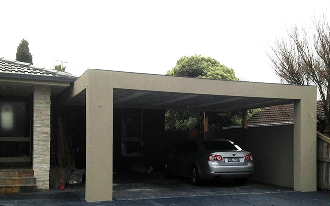 modern melbourne carport fits the trend mr carports. Black Bedroom Furniture Sets. Home Design Ideas