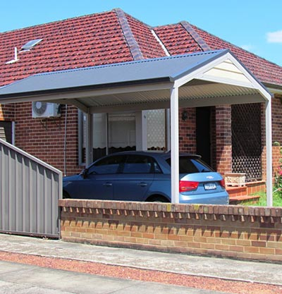 This Sydney single carport is low maintenance and practical.
