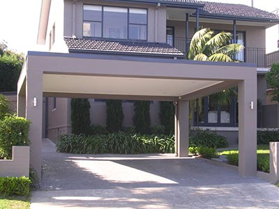 A rendered Brisbane carport is a perfect match for many modern homes.